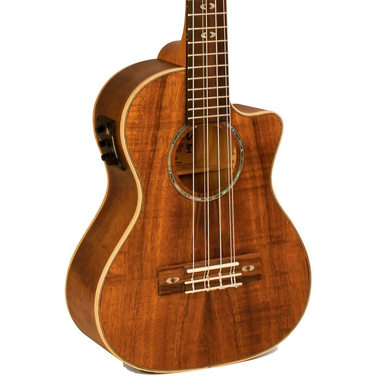 Lanikai Curly Koa Series CK-6EK 6-String Tenor Ukulele with Fishman Kula Electronics Natural