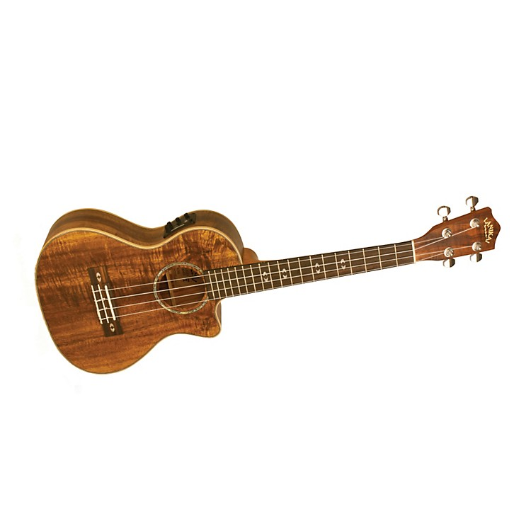 Lanikai Curly Koa Series CK-TEK Tenor Ukulele with Fishman Kula Electronics Natural