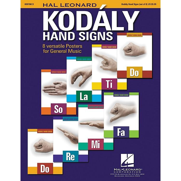 Hal LeonardCurwen/Kodaly Hand Signs Poster Set
