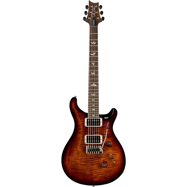 PRSCustom 24 Carved Flame Maple Top with Nickel Hardware Electric GuitarBlack Gold Wrap Burst