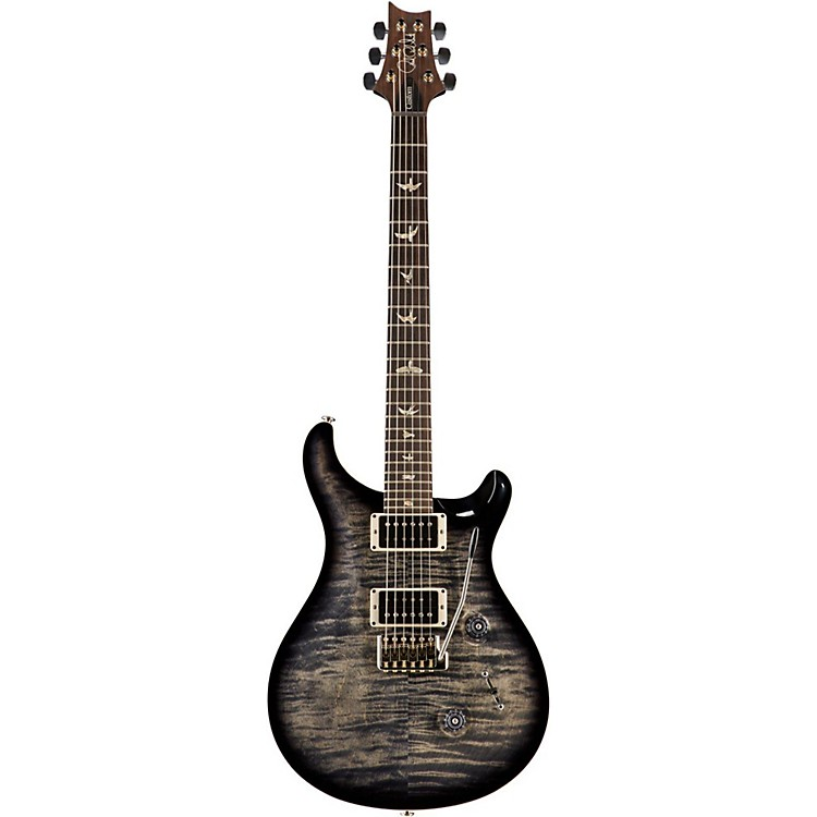 PRSCustom 24 Carved Flame Maple Top with Nickel Hardware Electric GuitarCharcoal Burst
