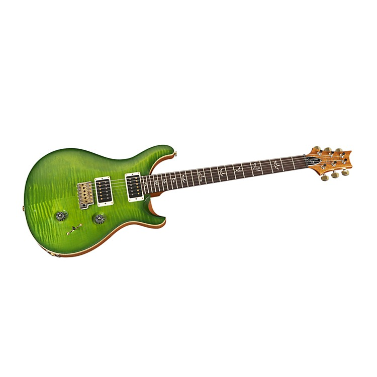 PRS Custom 24 Flame Top Electric Guitar Eriza Verde Hybrid Hardware