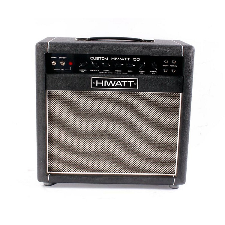 Hiwatt Custom 50W 1X12 Tube Guitar Combo Amp Black 886830821257