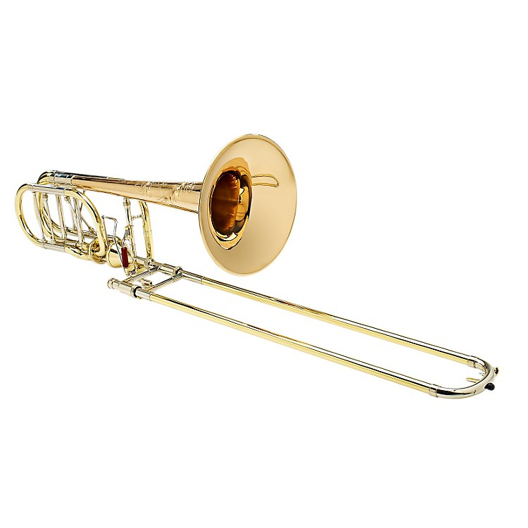 S.E. SHIRES Custom BI 2RM Bass Trombone with Axial-Flow F/Gb Attachment Red Brass Bell Axial Valve