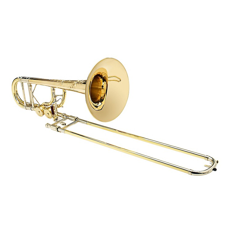 S.E. SHIRES Custom BII 7GM Bass Trombone with Tru-Bore F/Gb attachment Gold Brass Bell TruBore Valve