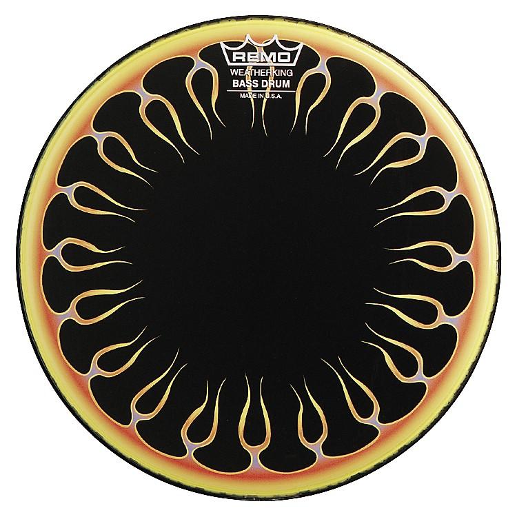 RemoCustom Graphic Flames Resonant Bass Drum20 in.