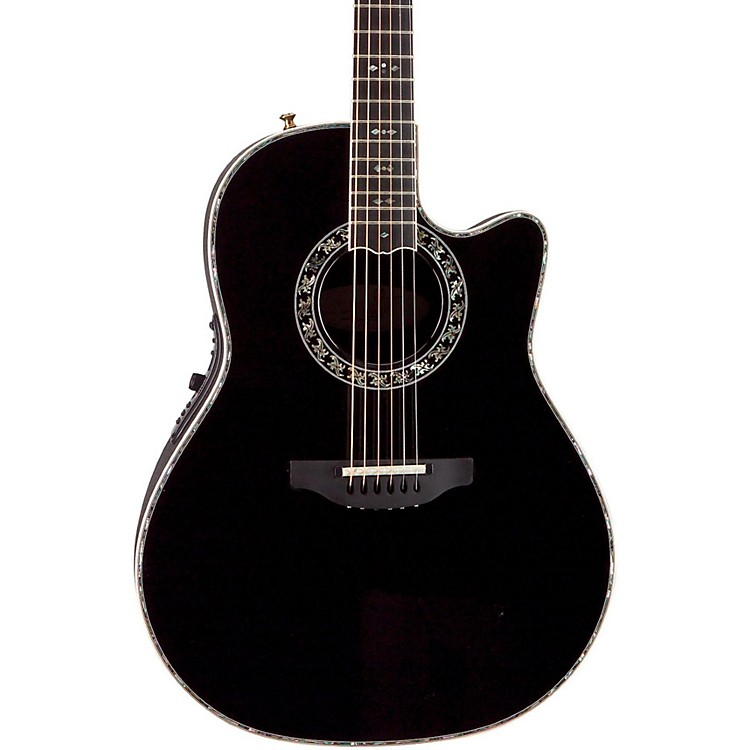Ovation Custom Legend C2079 AX Deep Contour Acoustic-Electric Guitar Black