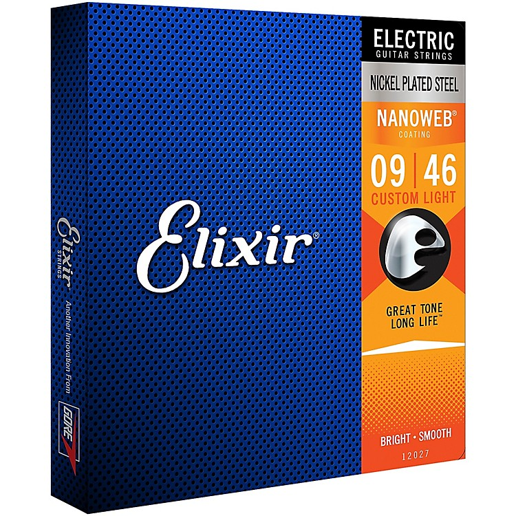 Elixir Custom Light Nanoweb Electric Guitar Strings 2-Pack
