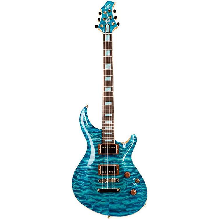 ESPCustom Mystique Electric GuitarSee-Thru Blue