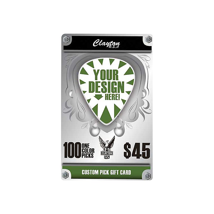 Clayton Custom Pick Gift Card 100 One Color Picks