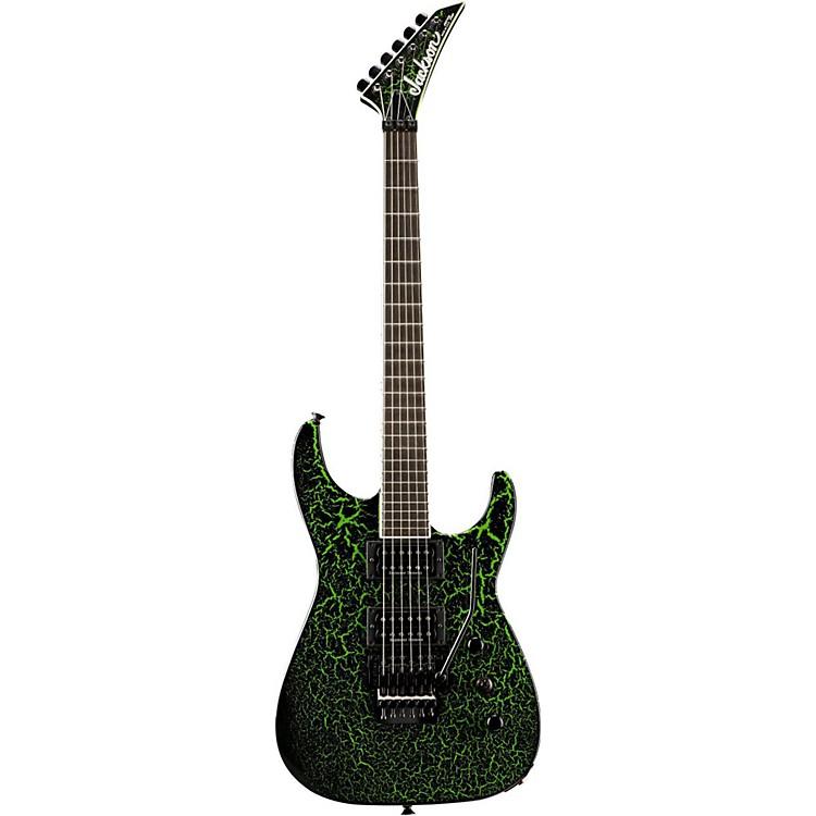 JacksonCustom Select Soloist Electric GuitarBlack Green Crackle