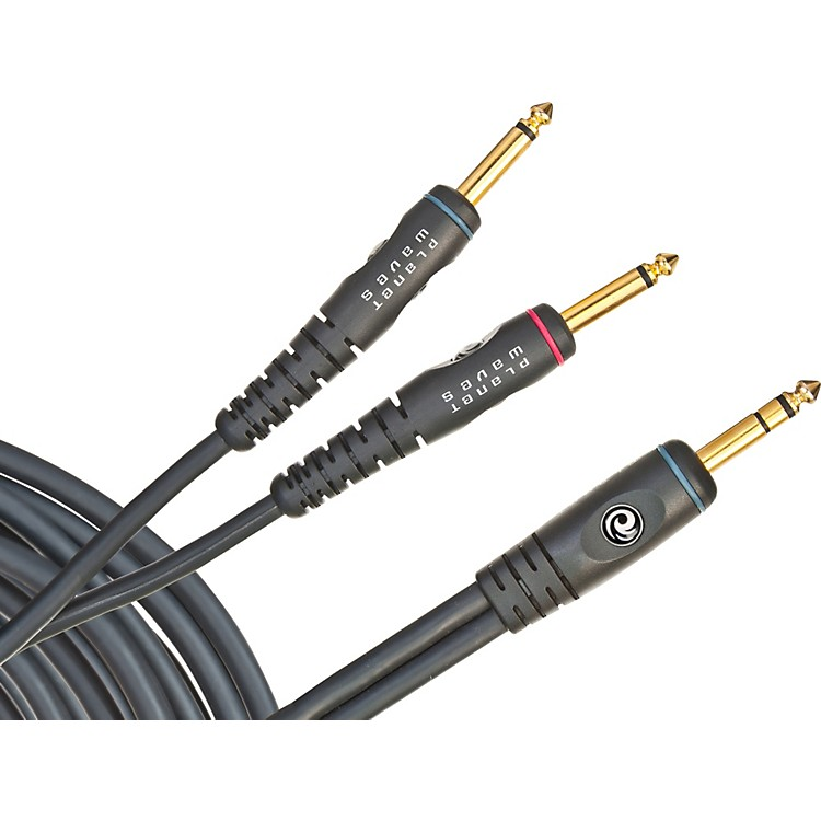 D'Addario Planet Waves Custom Series Insert Cable Stereo 1/4 in. to Dual Mono 1/4 in. 20 ft.