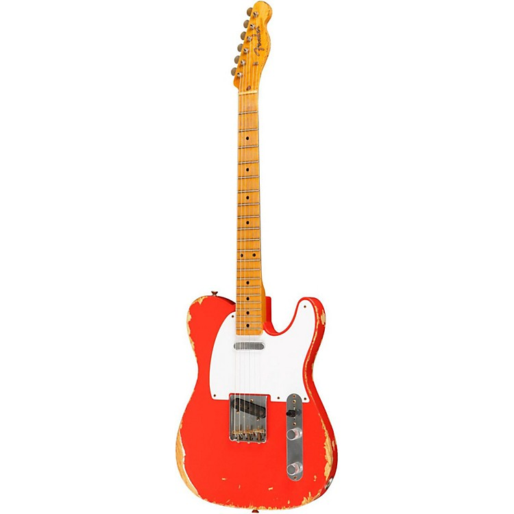 Fender Custom Shop Custom Shop '58 Heavy Relic Telecaster Electric Guitar Fiesta Red