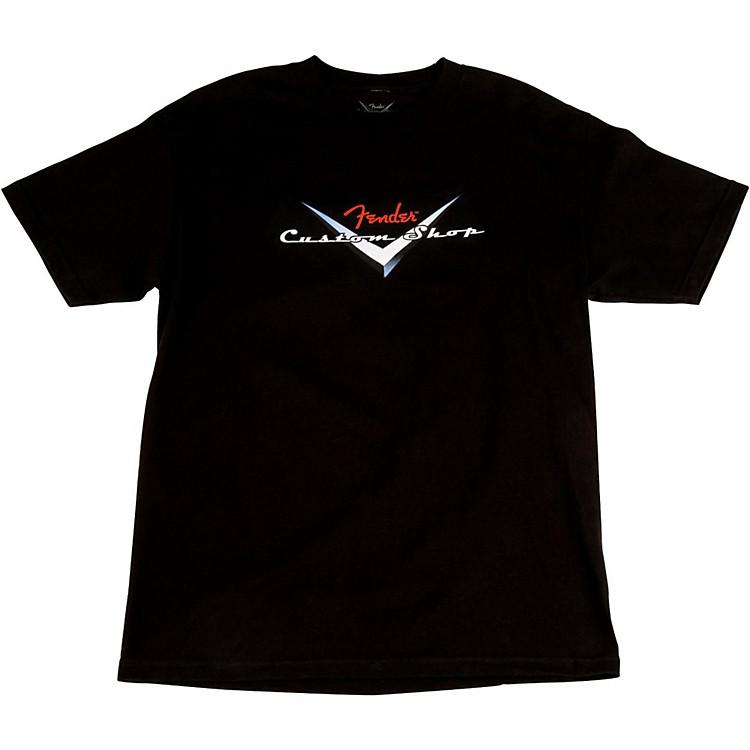 FenderCustom Shop Original Logo T-ShirtBlackX-Large