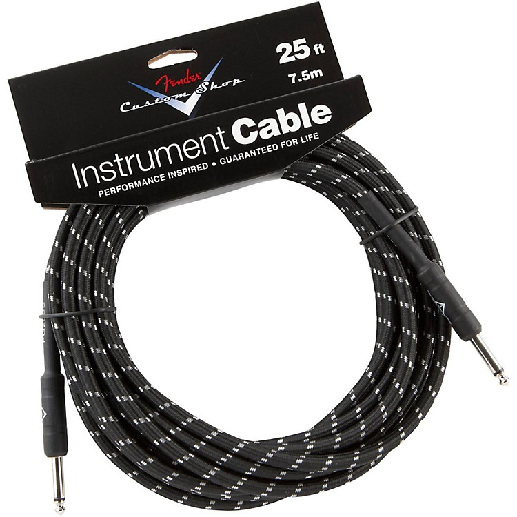 Fender Custom Shop Performance Series Instrument Cable Black Tweed 25 ft.