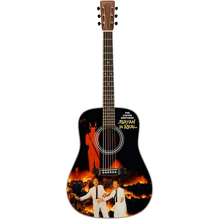 Martin Custom Signature Edition Louvin Brothers D-28 Dreadnought Acoustic Guitar Printed Top