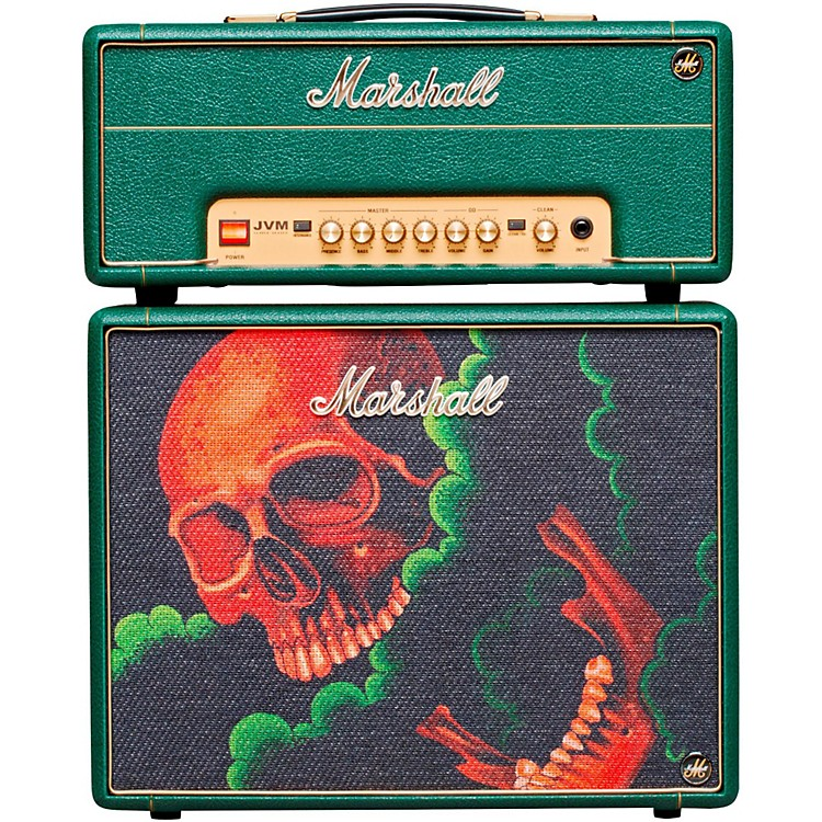Marshall Custom Tattoo Antony Flemming Stack JVM-1H 1W Tube Guitar Head and 1x10 Cab