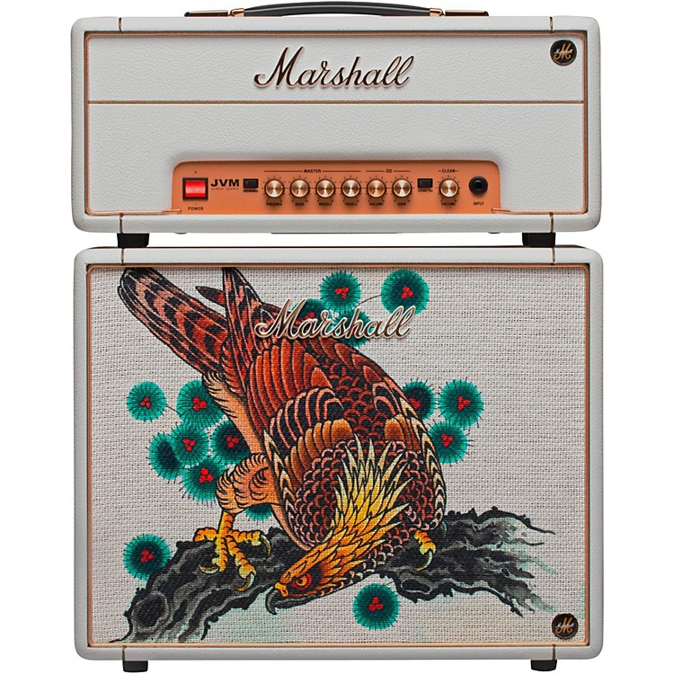 Marshall Custom Tattoo Tutti Serra Stack JVM-1H 1W Tube Guitar Head and 1x10 Cab