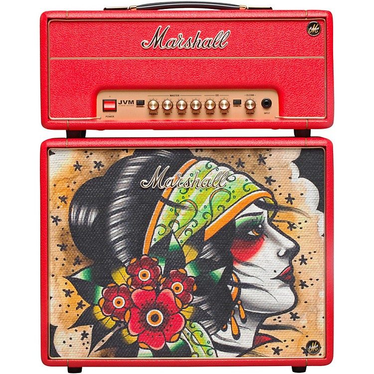 Marshall Custom Tattoo Vicky Morgan Stack JVM-1H 1W Tube Guitar Head and 1x10 Cab