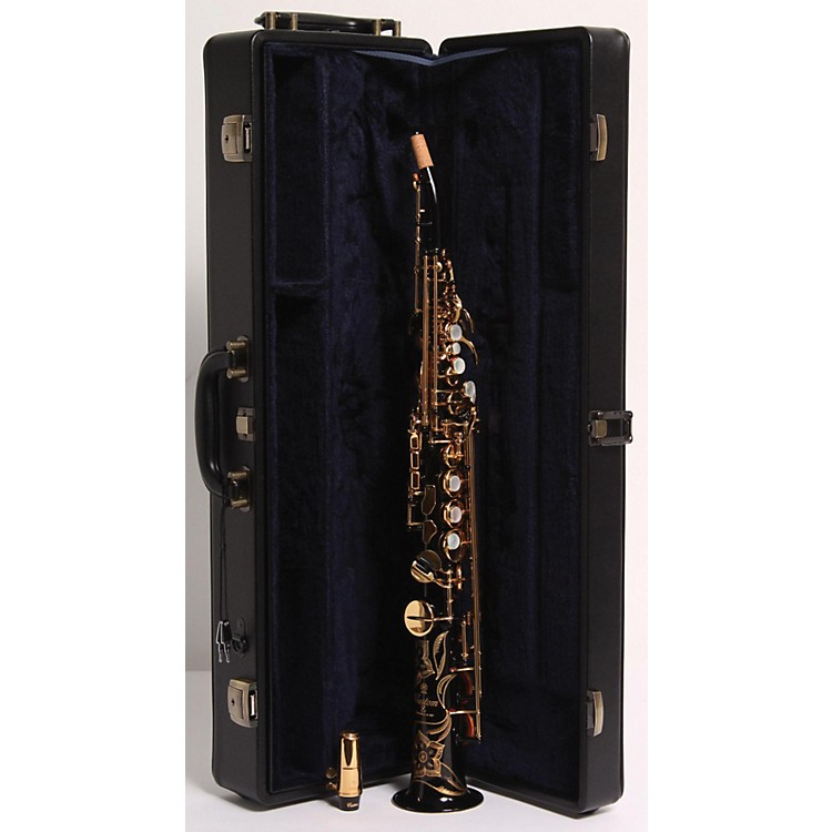 Yamaha Custom YSS-82Z Series Professional Soprano Saxophone with Curved Neck Black Lacquer 886830052200