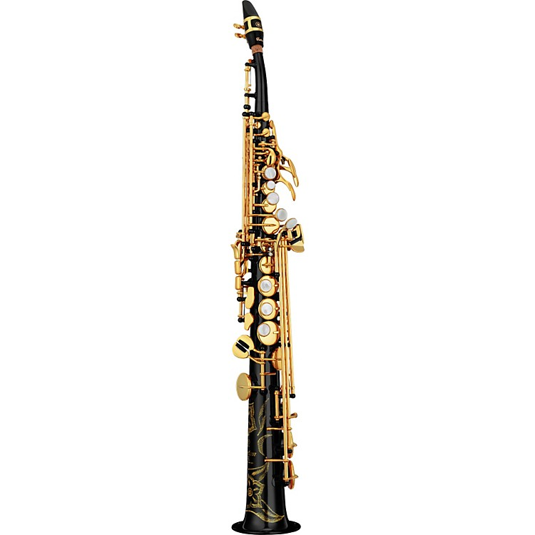 Yamaha Custom YSS-82Z Series Professional Soprano Saxophone with Curved Neck Black Lacquer