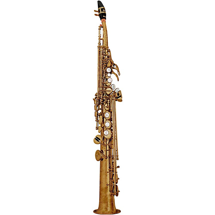 Yamaha Custom YSS-82Z Series Professional Soprano Saxophone with Curved Neck Unlacquered