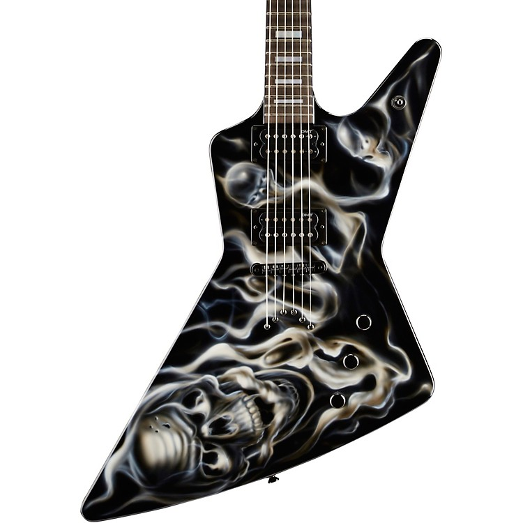 DeanCustom Z Hand Painted Graphic Electric GuitarSkull Flames