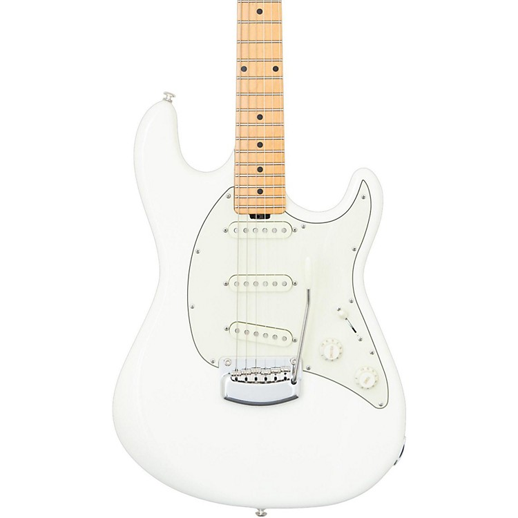 Ernie Ball Music Man Cutlass Trem Maple Fingerboard Electric Guitar Ivory White