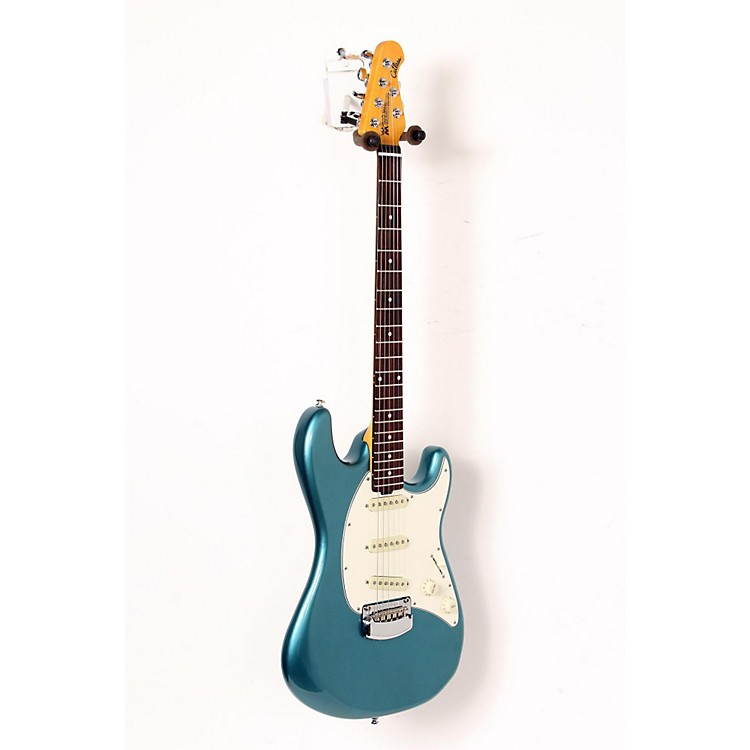 Ernie Ball Music ManCutlass Trem Rosewood Fingerboard Electric GuitarVintage Turquoise888365911359