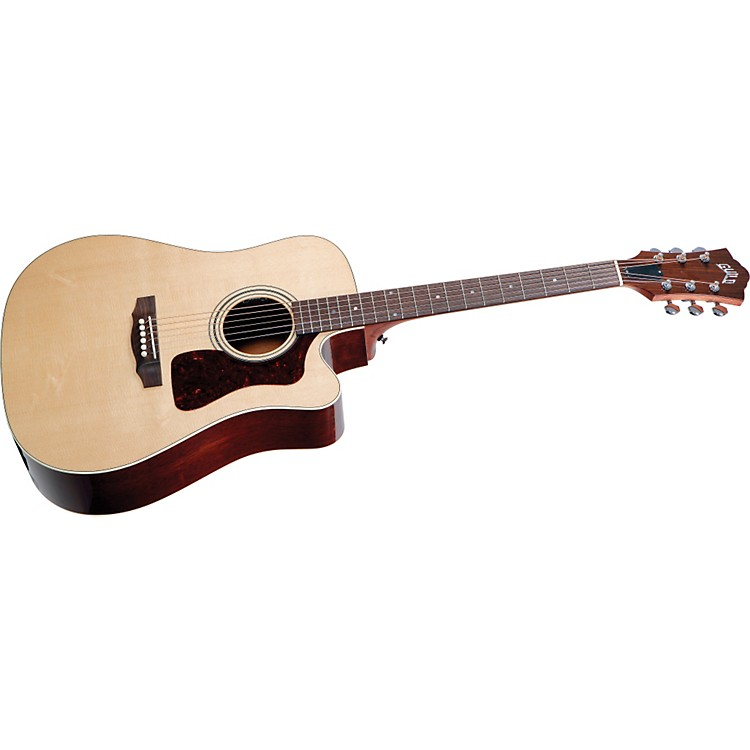 Guild D-40CE Standard Cutaway Acoustic-Electric Guitar Natural