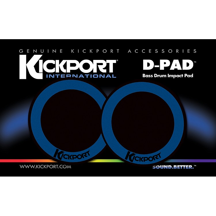Kickport D-Pad Bass Drum Impact Pad 2-Pack Black
