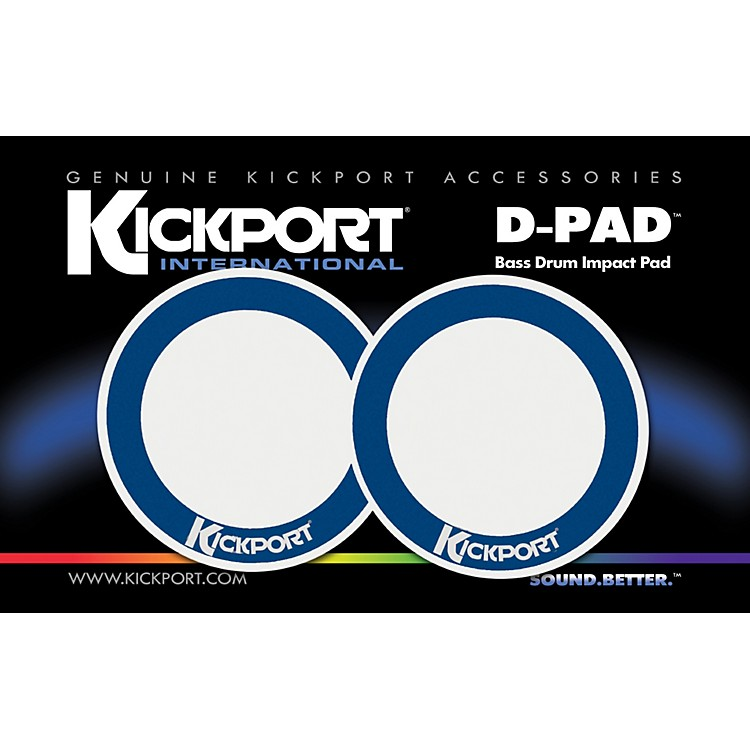 Kickport D-Pad Bass Drum Impact Pad 2-Pack White