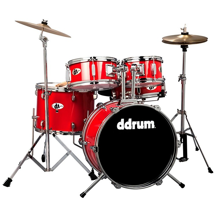 ddrum D1 5-Piece Junior Drum Set with Cymbals Candy Red