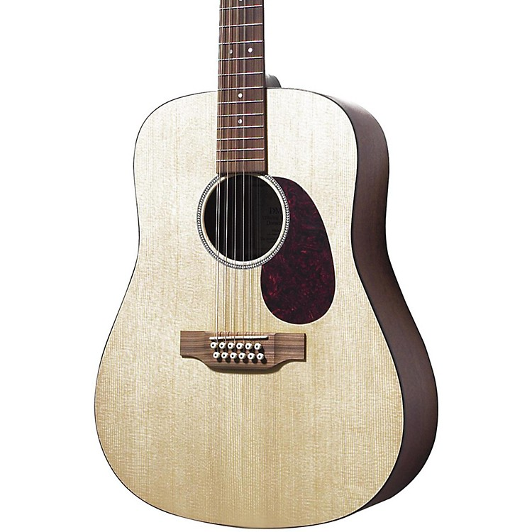 MartinD12GTM Solid Top 12-String Dreadnought Acoustic GuitarNatural
