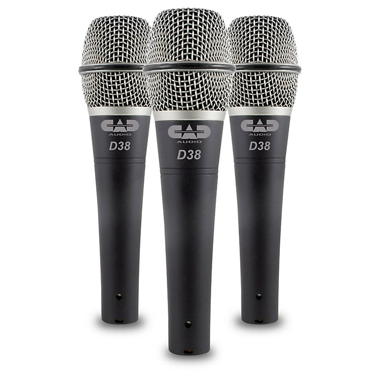 CadLiveD38 Supercardioid Dynamic Handheld Microphones (3-Pack)