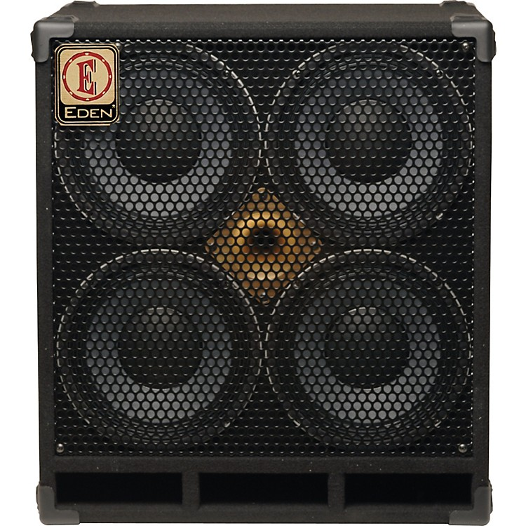 Eden D410XST 1000W 4x10 Bass Speaker Cabinet with Horn Black 4 Ohm