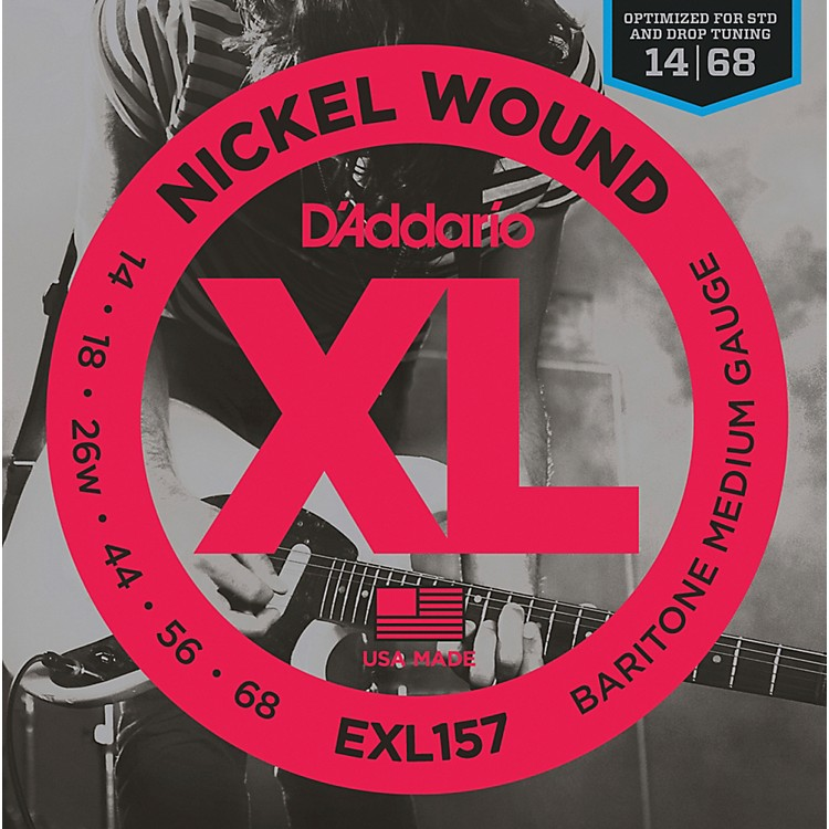 D'Addario D'Addario EXL157 Nickel Wound Medium Baritone Guitar Strings