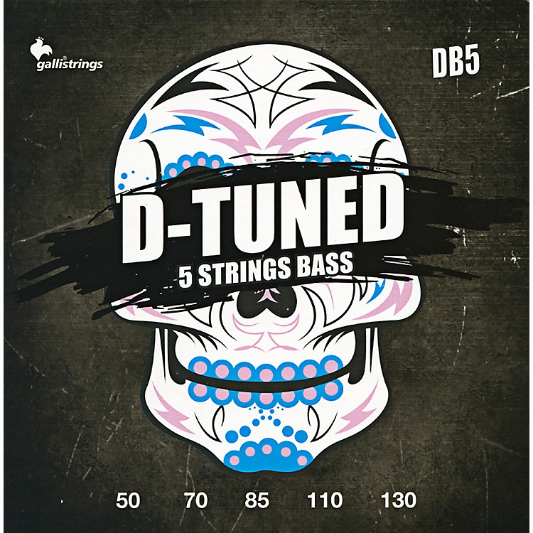 Galli Strings DB5 D-TUNED 5-String Bass Strings 50-130