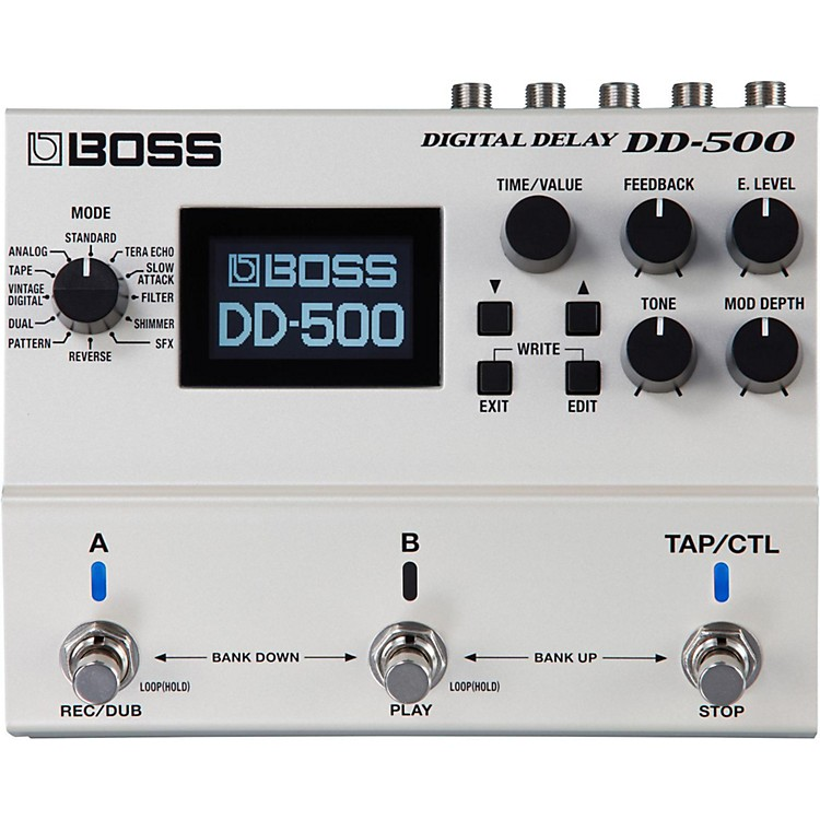 BossDD-500 Digital Delay Guitar Effects Pedal