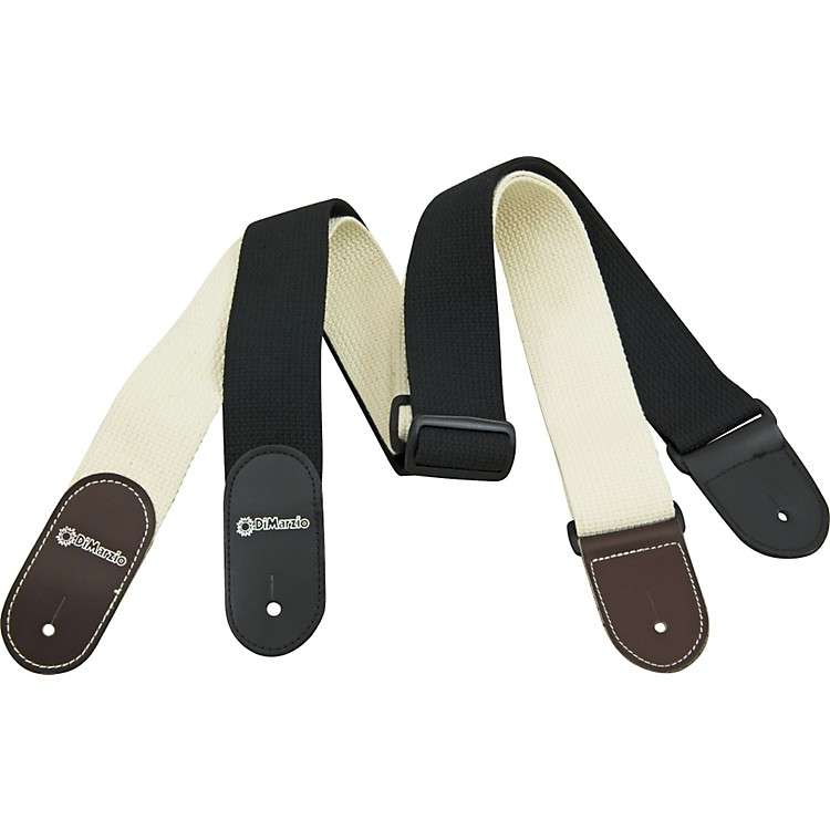 DiMarzio DD3100C Cotton Guitar Strap Black