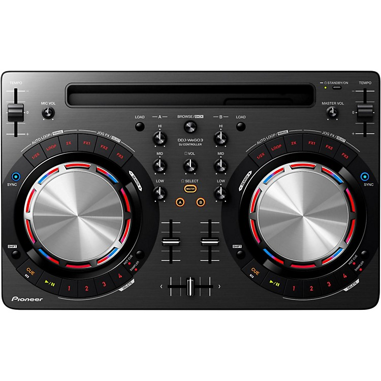 PioneerDDJ-WEGO3 Compact DJ Controller with iOS CompatibilityBlack