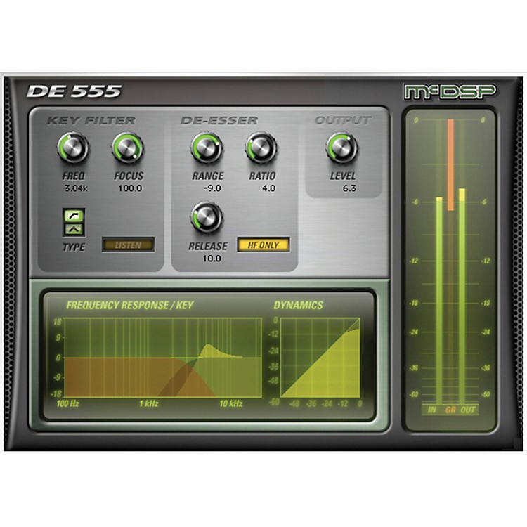 McDSP DE555 De-esser Native v5 Software Download Software Download