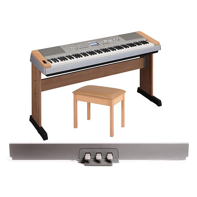 YamahaDGX 640 88-Key Digital Piano with WB2 Padded Bench & LP-7 Pedal Unit