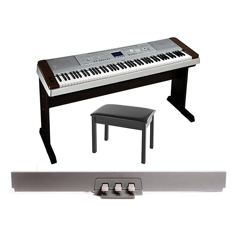 YamahaDGX-640 88-Key Digital PianoWalnut with BB1 Padded Bench & LP-7 Pedal Unit