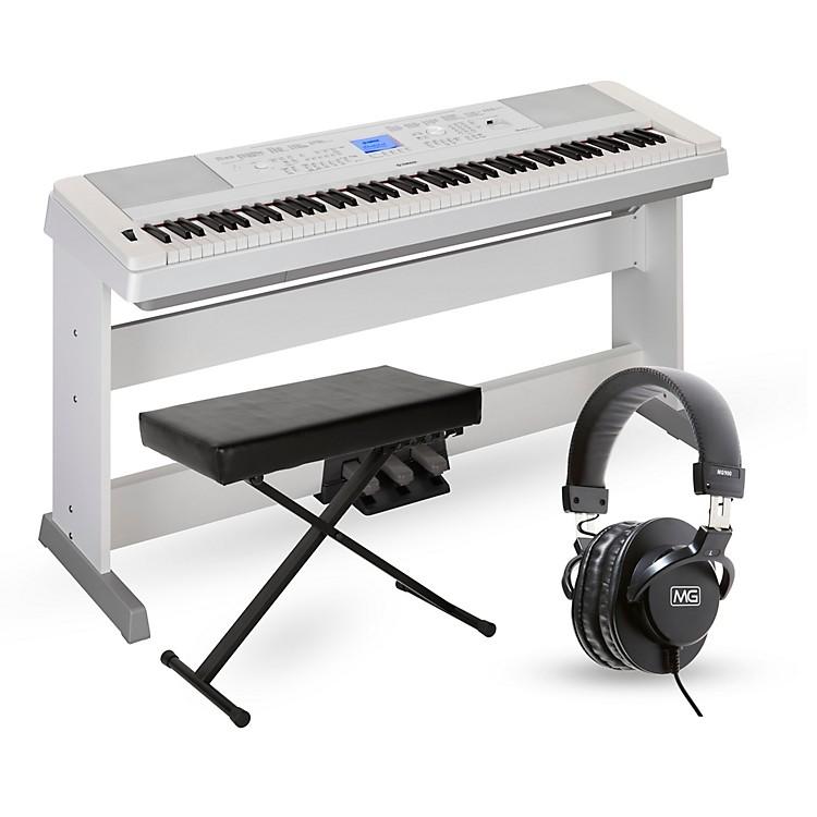 YamahaDGX660 88-Key Portable Grand Piano PackagesWhiteAdvanced Home Package