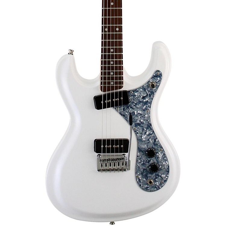Aria DM-380 Diamond Electric Guitar White w/ Black Pickguard