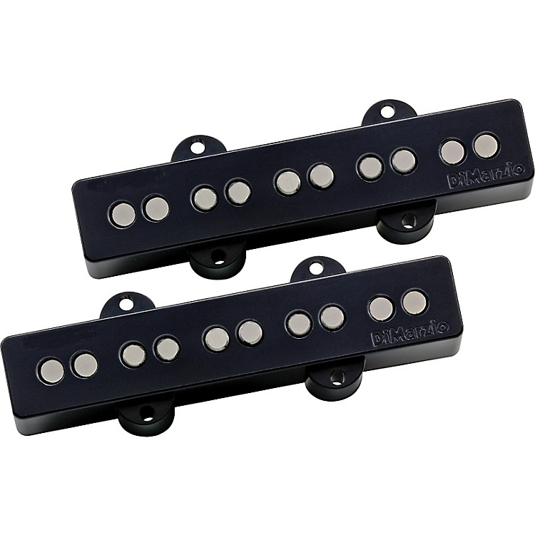 DiMarzio DP552 Area J Jazz 5-String Bass Neck/Bridge Pickup Set Black