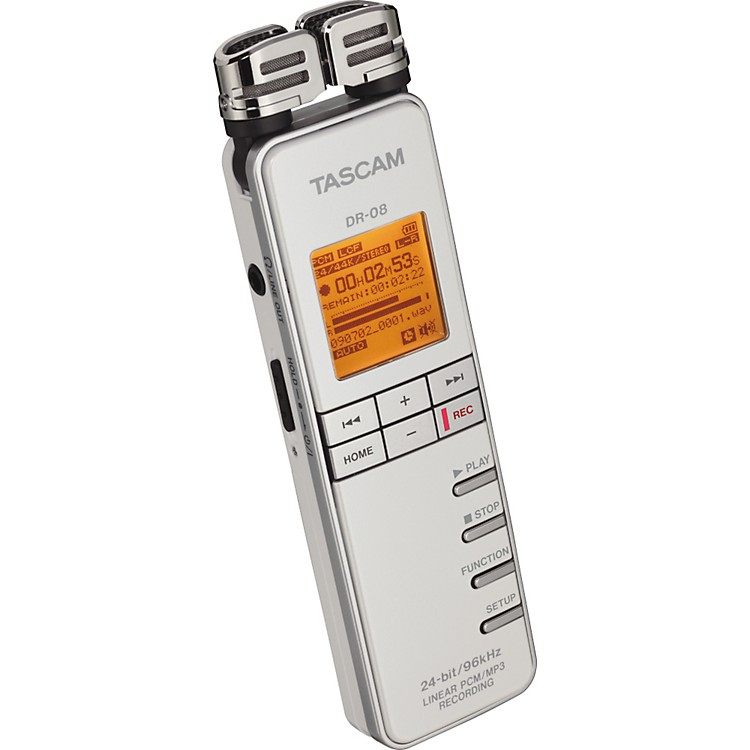 TASCAM DR-08 Linear PCM/MP3 Recorder White