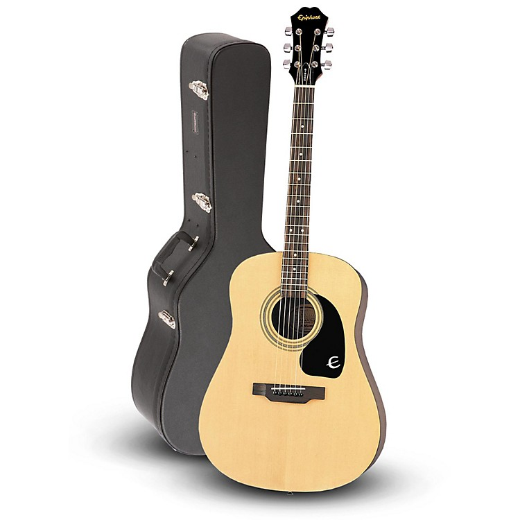 EpiphoneDR-100 Acoustic Guitar Natural with Road Runner RRDWA Case