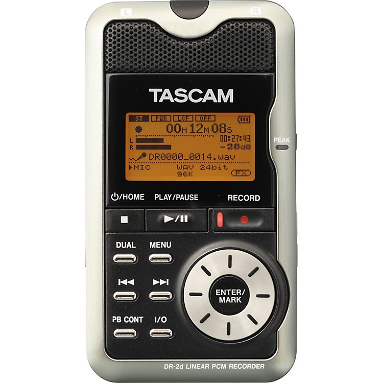 TASCAM DR-2d Portable Digital Recorder Black